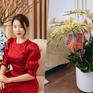 Căn hộ vừa đẹp vừa sang của Hồng Loan sáng bừng vì hoa dịp Tết
