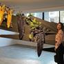 Ấn tượng với triển lãm hoa trên khối bê tông, ống dẫn gas, sàn runway