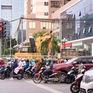 Thi công hầm chui Lê Văn Lương không đúng giấy phép, gây ùn tắc giao thông