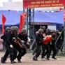 Cảnh sát cơ động diễn tập phương án đảm bảo an ninh trật tự cho ngày bầu cử