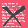 """Công an Hà Nội truy tìm đối tượng tung tin giả """"3000 chốt kiểm tra trên toàn thành phố"""""""