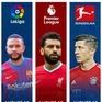 Lịch thi đấu, kết quả, BXH các giải bóng đá VĐQG châu Âu: Ngoại hạng Anh, Bundesliga, Serie A, La Liga, Ligue 1